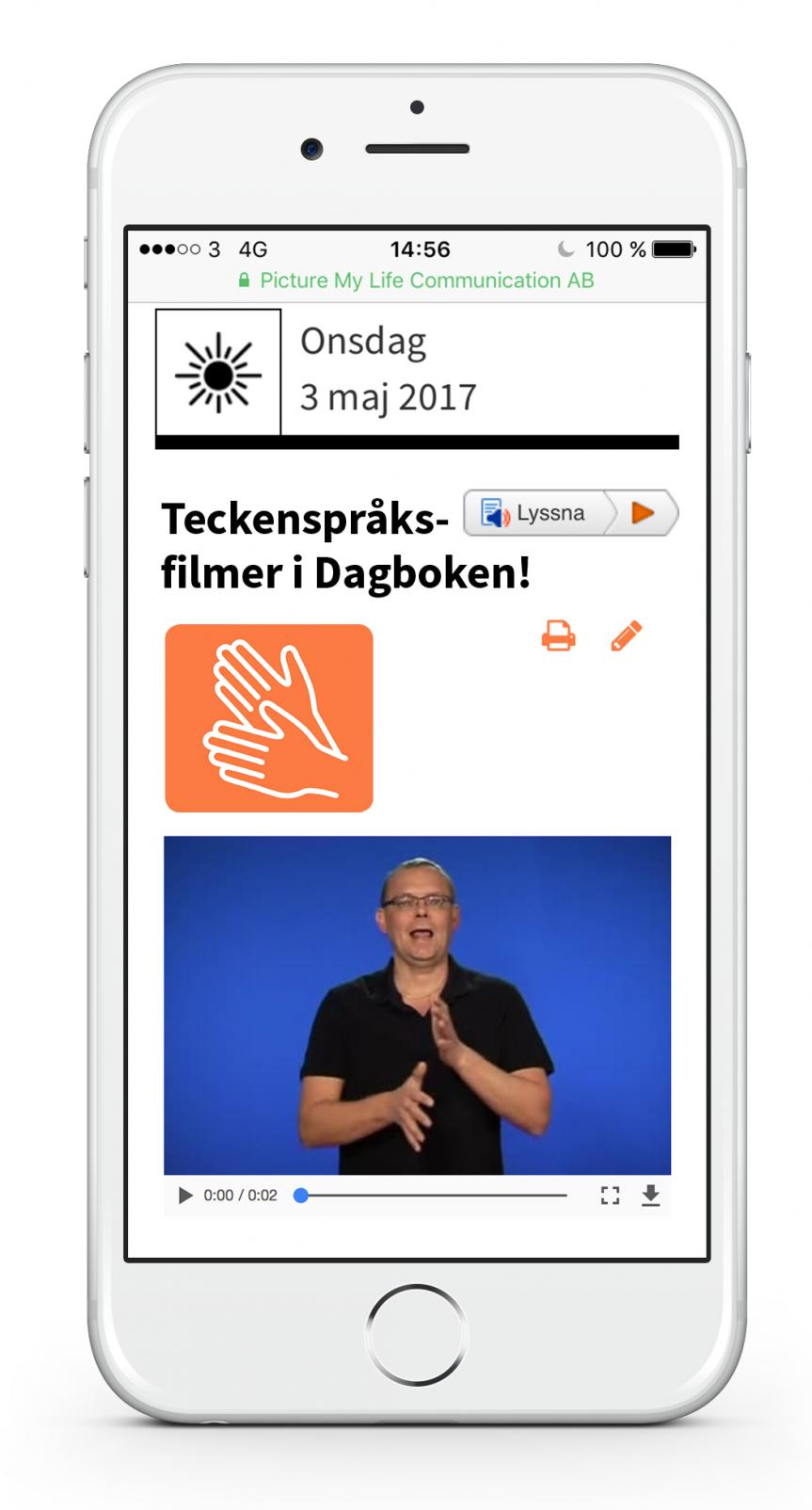 Nyhet! Teckenspråksfilm i Dagboken