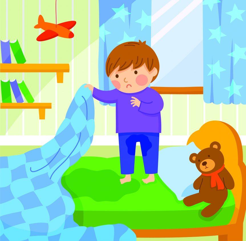 Kissar ditt skolbarn barn på sig på natten?